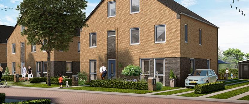 Start bouw 14 dubbele woonhuizen Van Disselstraat