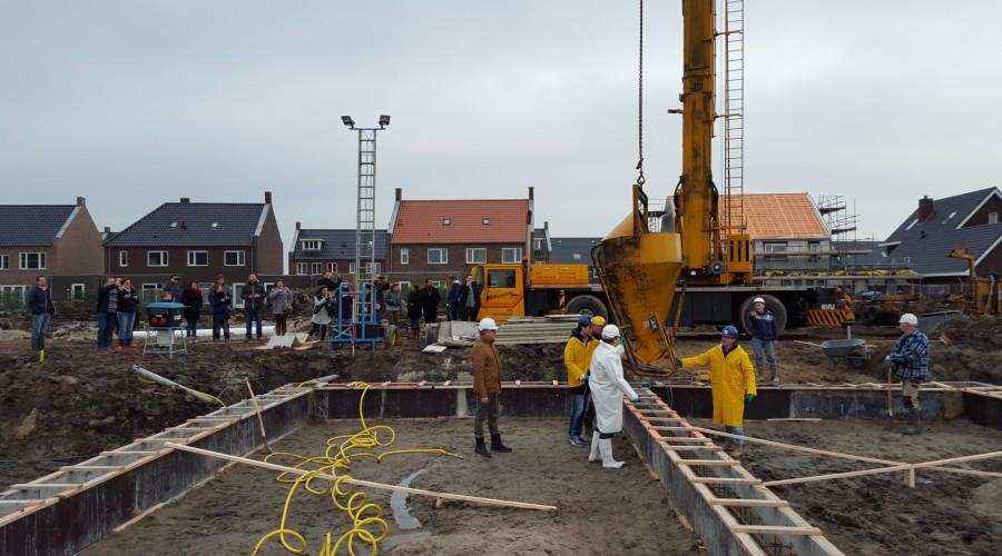 De officiële start aan de Van Disselstraat te Zwolle